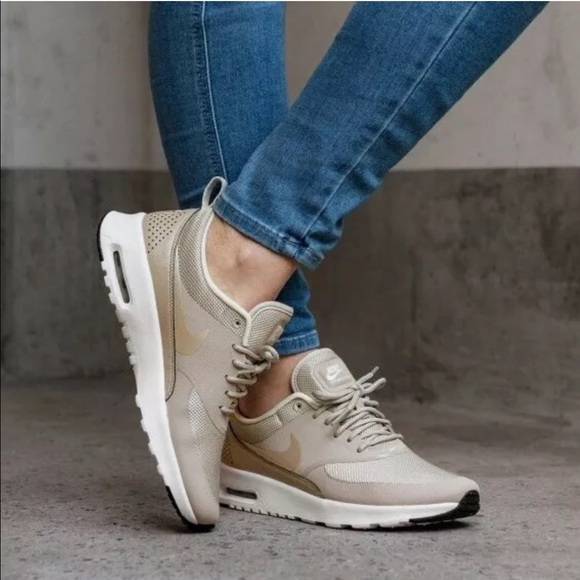 Women's Nike Air Max Thea Light Cream Sneakers NWT